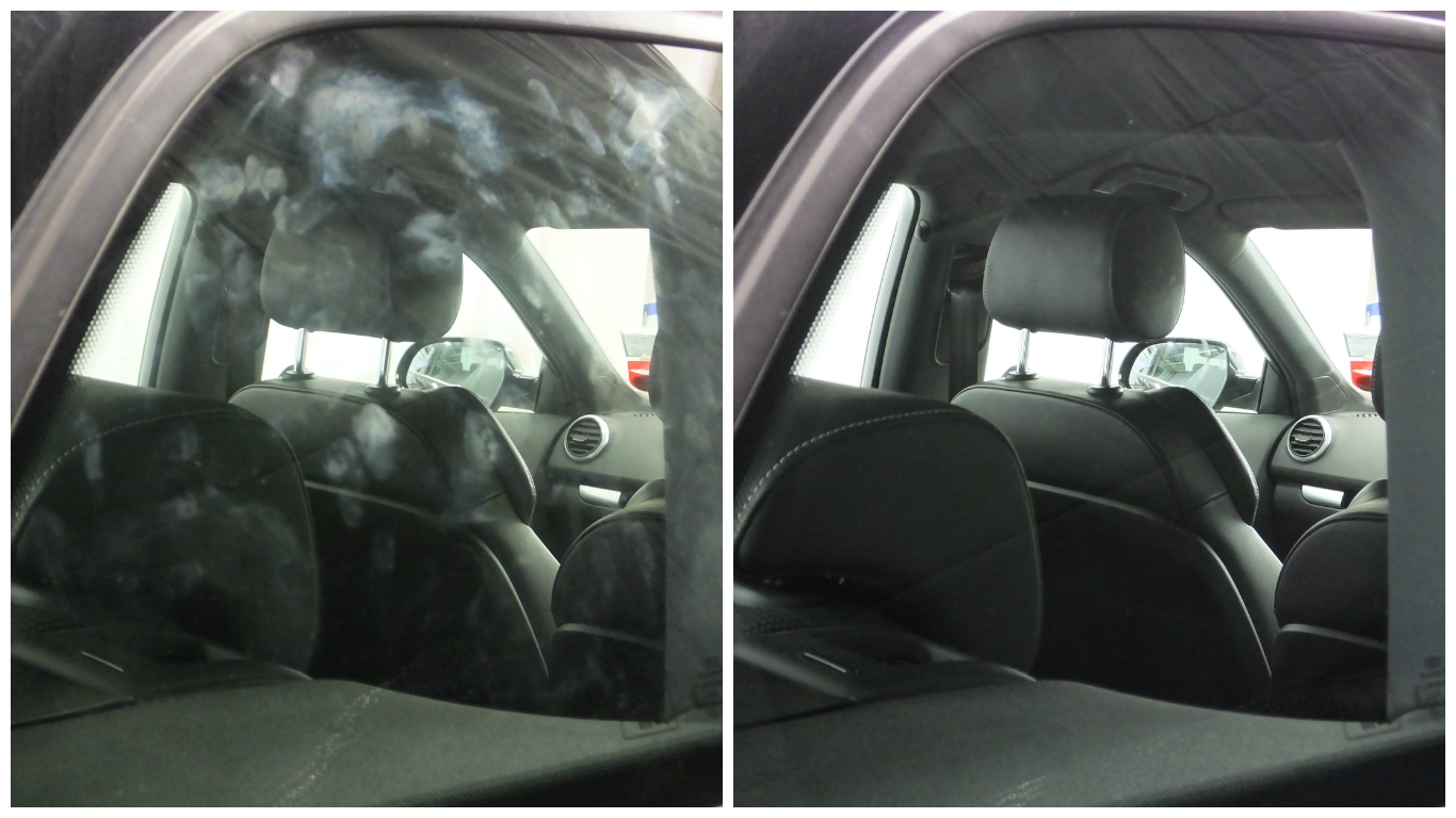 Fast Glass before and after results