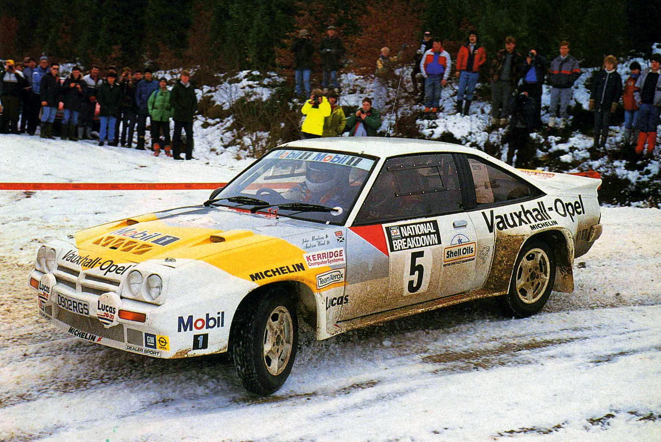 Rear-wheel drive was a huge disadvantage in mid '80s rallying, yet the Manta 400 was developed into a formable rally car