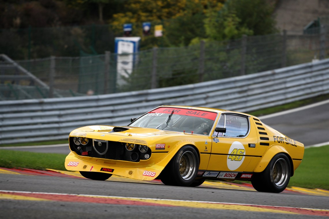 Proof that even a car as pretty as the Alfa Romeo Montreal can look even better as a race car
