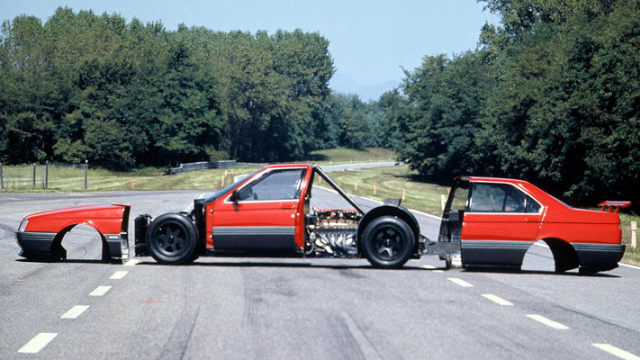 Take one F1 engine, plonk it in the middle of a silhouette racer made from composite materials, and what do you get? The 164 ProCar
