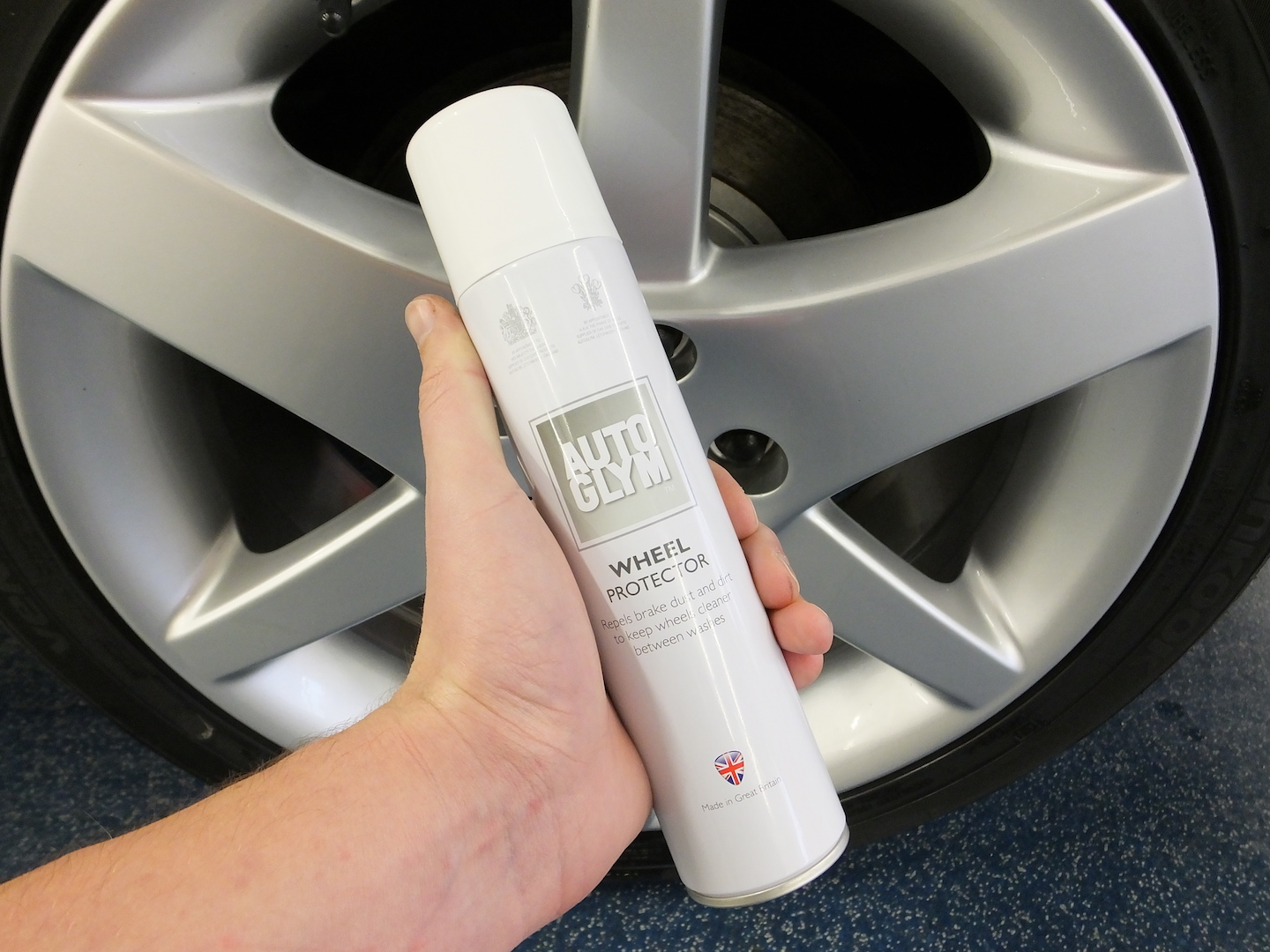Wheel Protector forms a protective barrier, effectively sealing in all your hard work