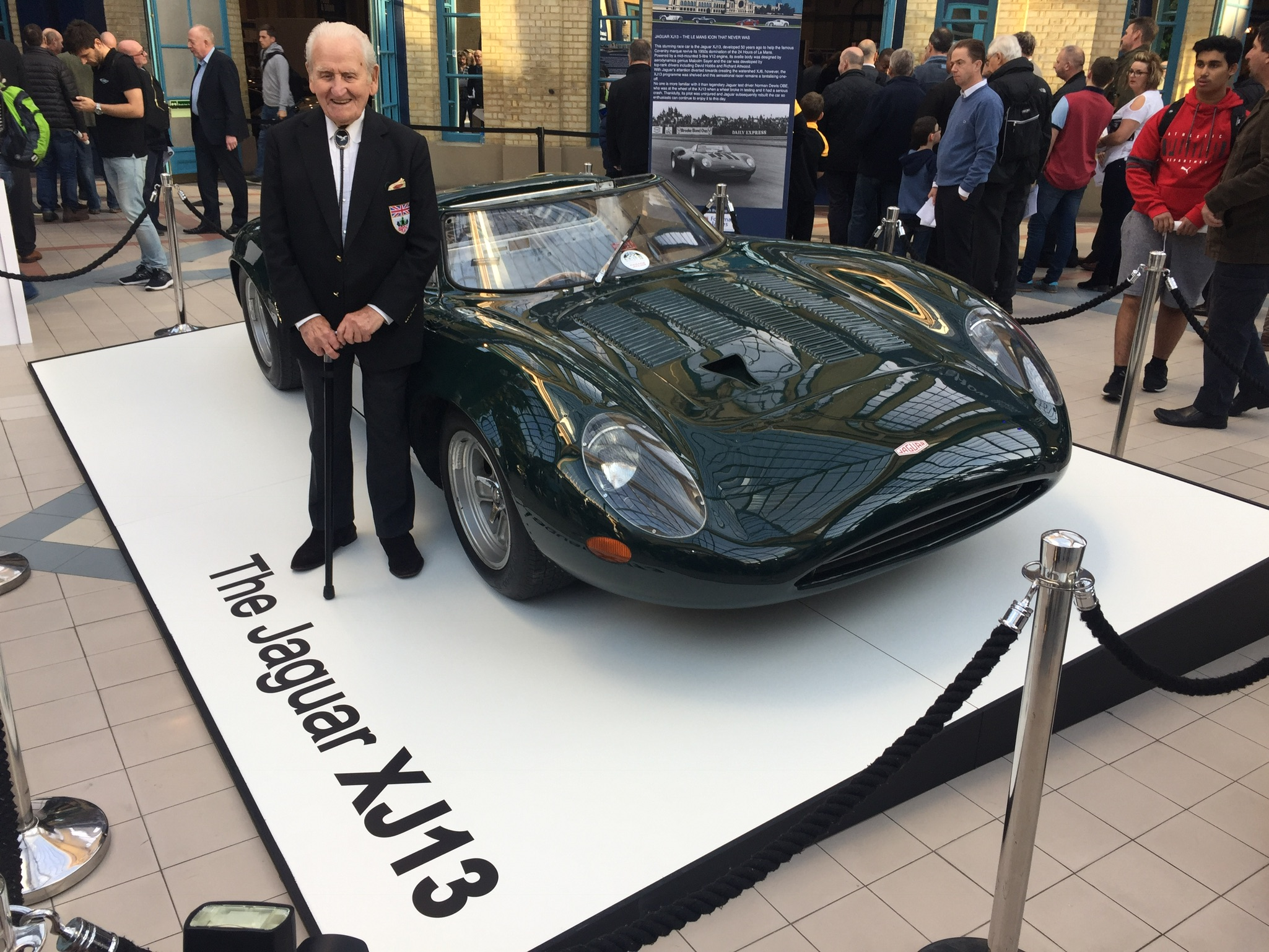 classic and sports car london show jaguar xj13 norman dewis