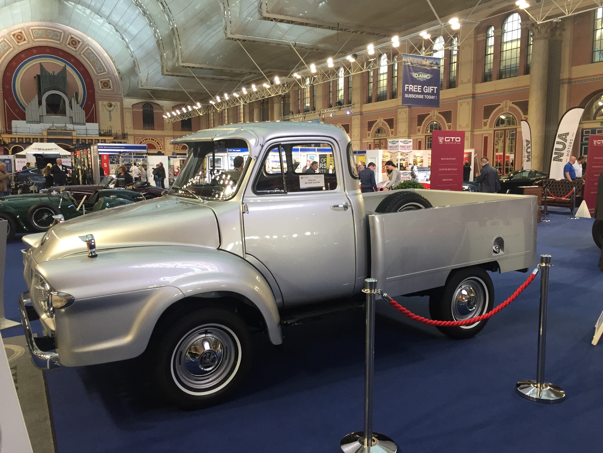 classic and sports car london show bedford J0 pickup
