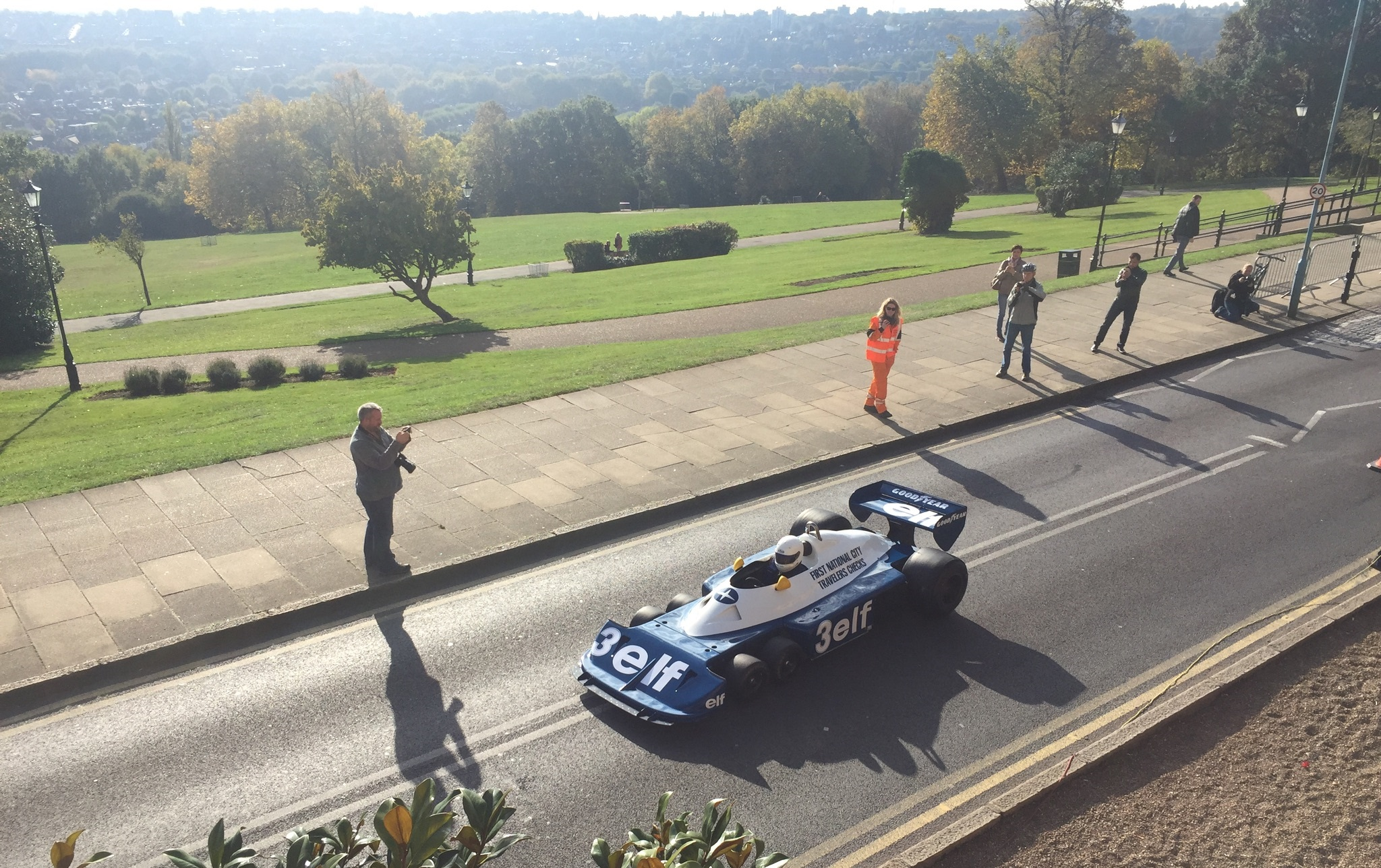 classic and sports car london show tyrell p34 6 wheeled f1 car