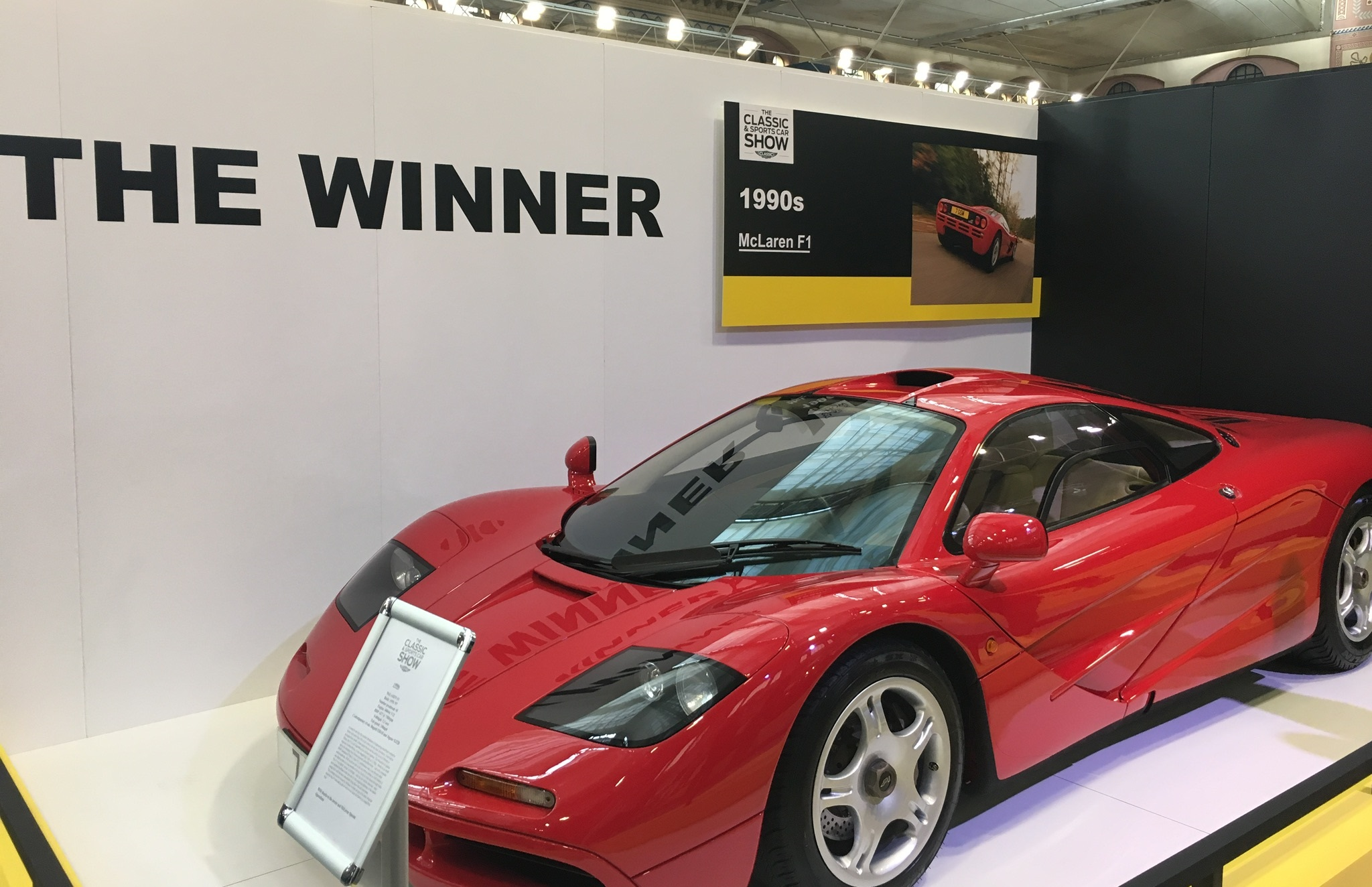 classic and sports car london show mclaren f1 greatest supercar ever