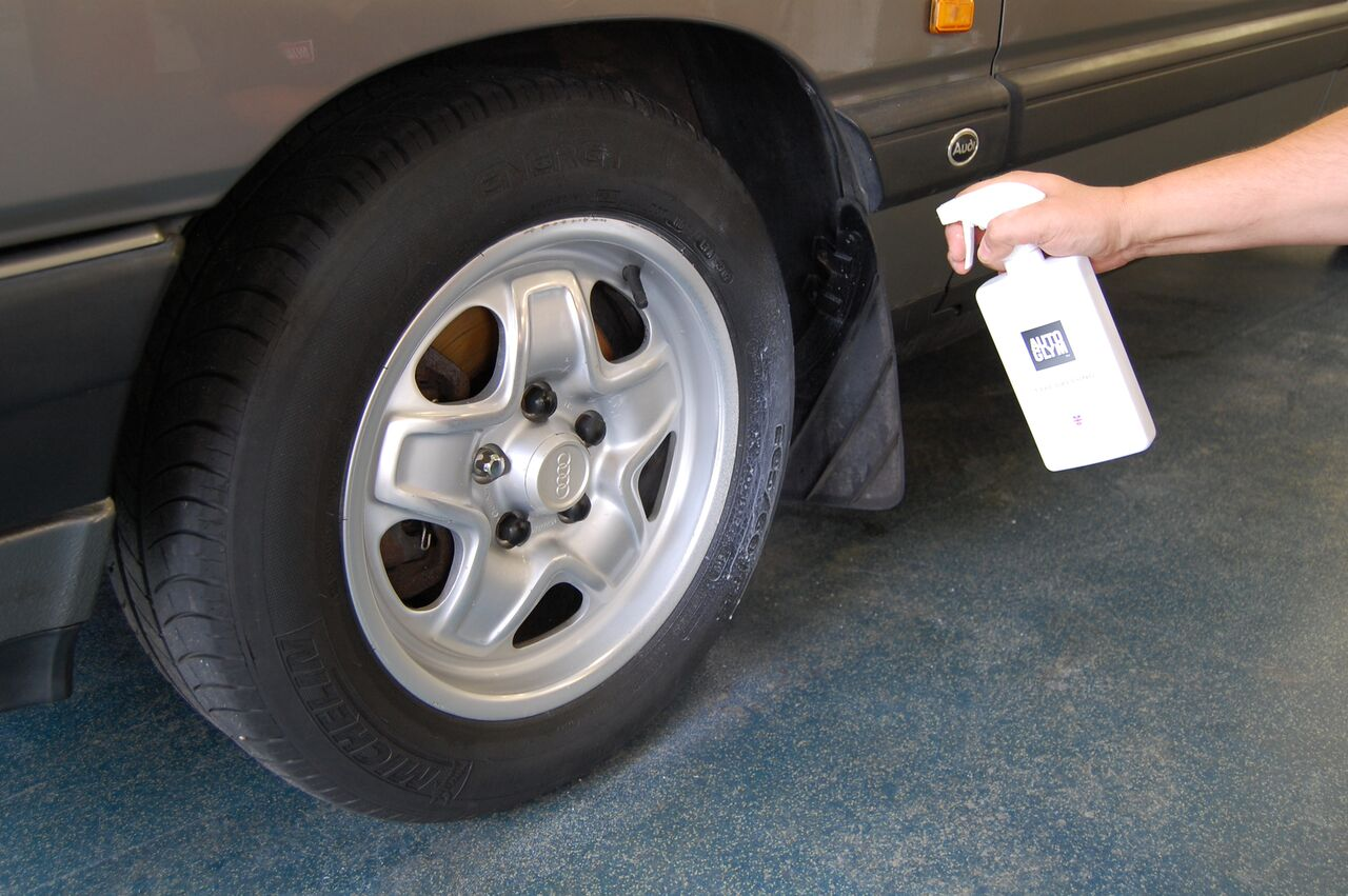 Dressing your tyres can make a massive difference to the overall appearance of your newly cleaned car