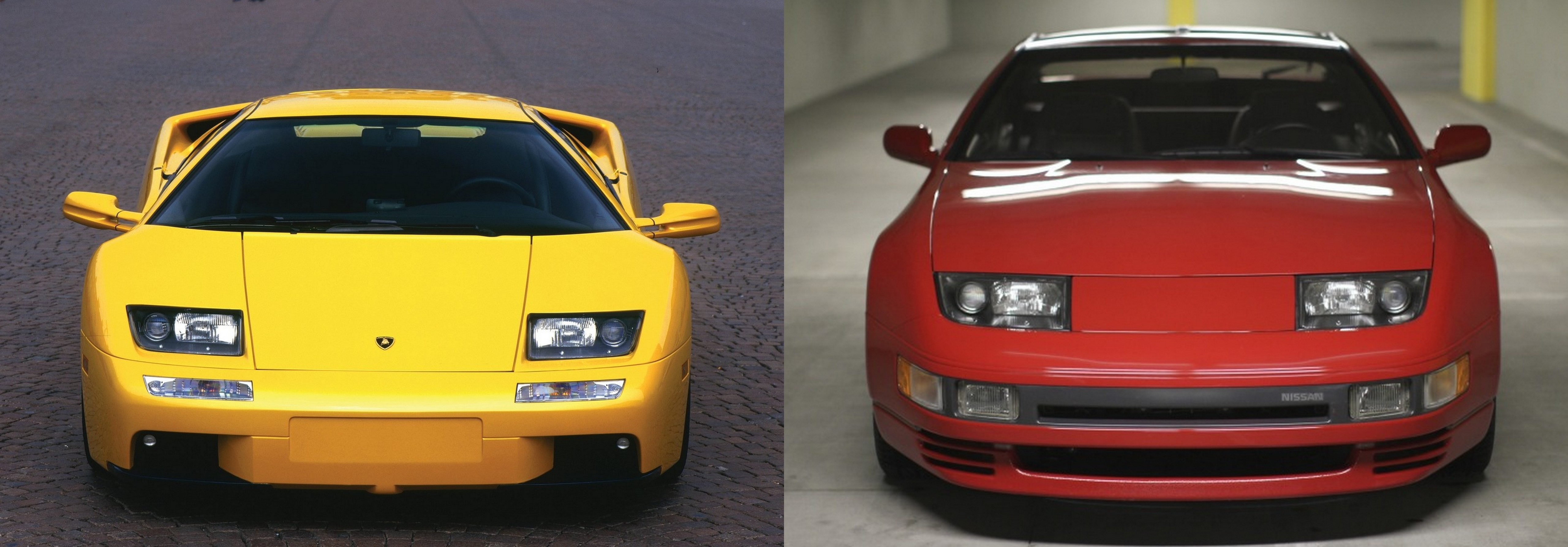 Later Diablos share headlights with the Nissan 300ZX