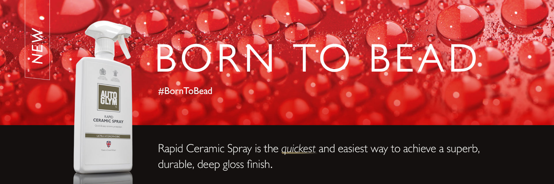 Autoglym Rapid Ceramic Spray is the quickest and easiest way to achieve a superb, durable, deep gloss finish.