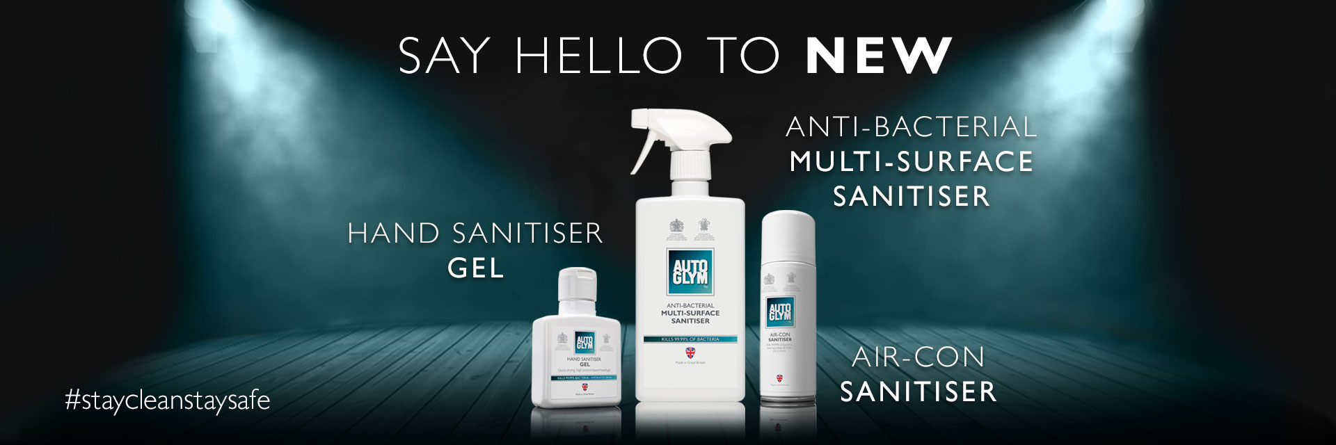 Stay safe this Summer with the Autoglym Sanitiser Range
